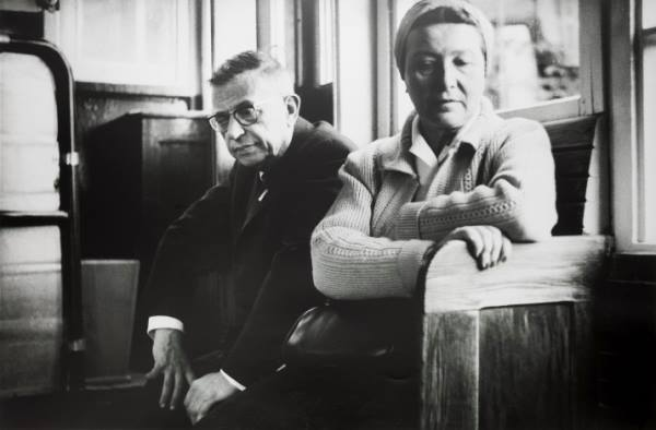 J. P. Sartre and S. de Beauvoir Kauno funik-A.Sutkus